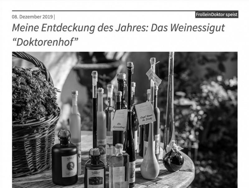 """Meine Entdeckung des Jahres: Das Weinessigut """"Doktorenhof"""""""